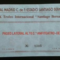 Coleccionismo deportivo: ENTRADA FUTBOL REAL MADRID - EVERTON. Lote 167834449