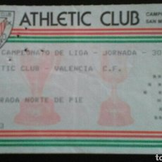 Coleccionismo deportivo: ENTRADA FUTBOL ATHLETIC VALENCIA 1985. Lote 167874032