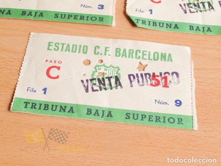 Coleccionismo deportivo: Entradas C.F. Barcelona - Años 60 - Foto 4 - 167949448