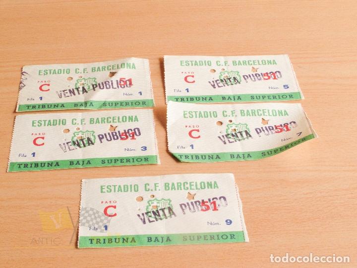 ENTRADAS C.F. BARCELONA - AÑOS 60 (Coleccionismo Deportivo - Documentos de Deportes - Entradas de Fútbol)