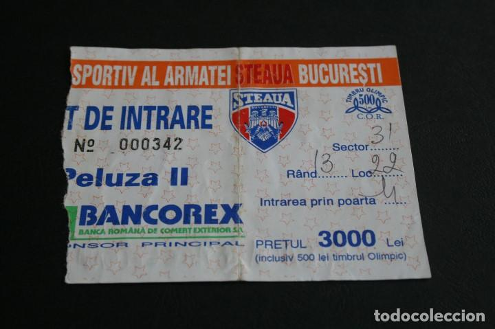 ENTRADA FÚTBOL STEAUA BUCAREST - BARCELONA CHAMPIONS LEAGUE 95-96 (Coleccionismo Deportivo - Documentos de Deportes - Entradas de Fútbol)