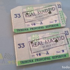 Coleccionismo deportivo - Entradas CF Barcelona vs Real Madrid - 1962 - 166786058