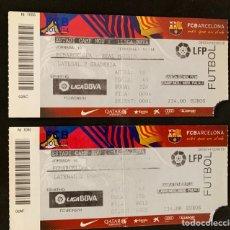 Coleccionismo deportivo: 2 ENTRADAS FUTBOL FC. BARCELONA VS REAL MADRID. Lote 168252366