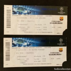 Coleccionismo deportivo: 2 ENTRADAS FUTBOL F.C.BARCELONA VS BAYERN MÚNICH. Lote 168252508