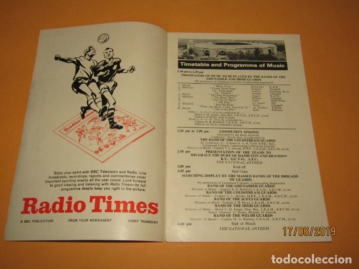 Coleccionismo deportivo: Antiguo Programa Oficial del Partido de Futbol INGLATERRA & ESCOCIA en Wembley 10 de Abril Año 1965 - Foto 2 - 168639096