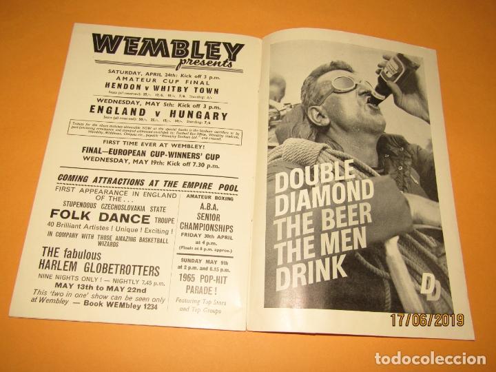 Coleccionismo deportivo: Antiguo Programa Oficial del Partido de Futbol INGLATERRA & ESCOCIA en Wembley 10 de Abril Año 1965 - Foto 5 - 168639096