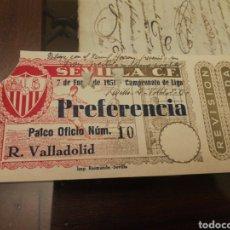 Coleccionismo deportivo: ENTRADA SEVILLA C. F 1951. Lote 168645825