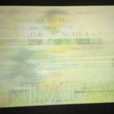 Coleccionismo deportivo: ENTRADA FUTBOL UEFA RAYO VALLECANO ALAVES 2001. Lote 168712700