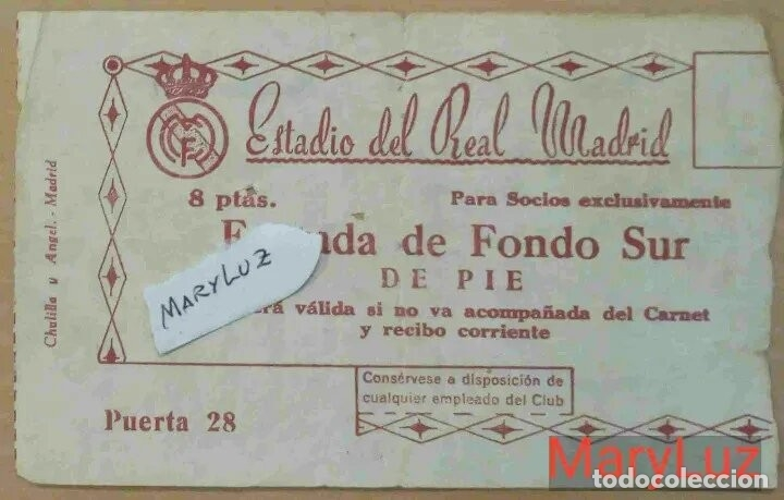 Coleccionismo deportivo: ENTRADA BERNABÉU. R.MADRID-MANCHESTER UNITED (3-1).Semifinal 2ª Copa Europa.11 Abril 1957.Ver fotos - Foto 3 - 110299563