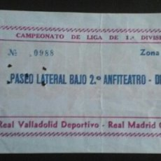 Coleccionismo deportivo: ENTRADA FÚTBOL REAL MADRID VALLADOLID 83/84. Lote 169563224