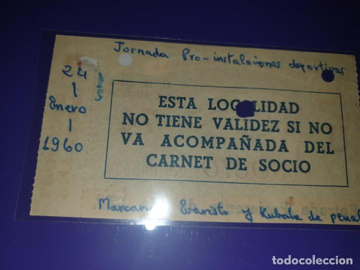 Coleccionismo deportivo: ENTRADA FC BARCELONA VS AT ATLETICO DE MADRID 24.1.1960 CAMP NOU 2-1 - Foto 2 - 169841356