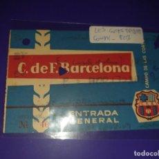 Coleccionismo deportivo: ENTRADA FC BARCELONA VS CONDAL CAMP DE LES CORTSB 25. 8. 1959 9 -3. Lote 169841432