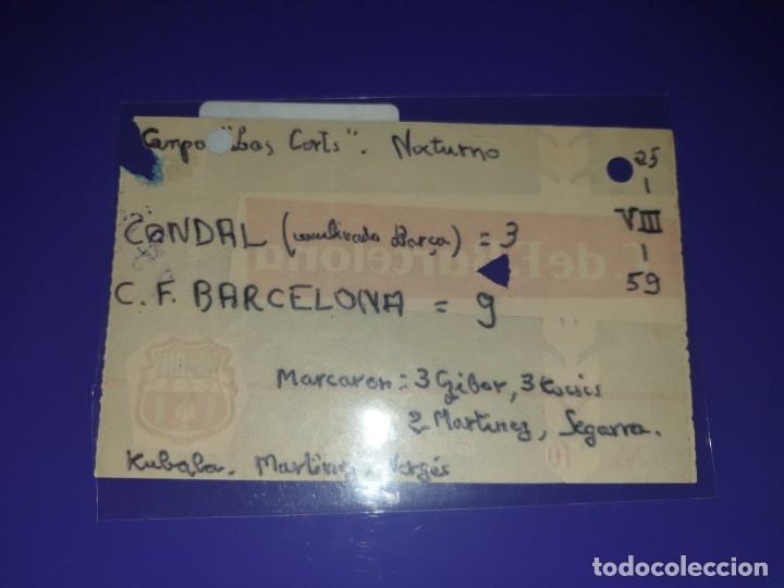 Coleccionismo deportivo: ENTRADA FC BARCELONA VS CONDAL CAMP DE LES CORTSB 25. 8. 1959 9 -3 - Foto 2 - 169841432