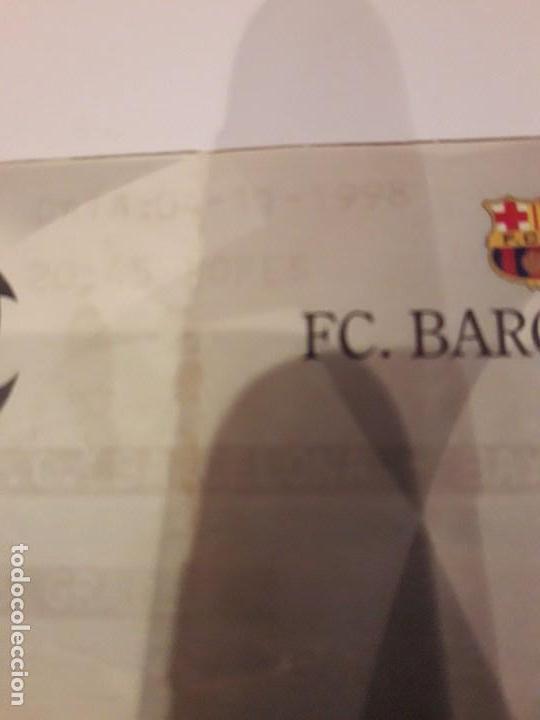 Coleccionismo deportivo: ENTRADA CHAMPIONS.F.C.BARCELONA VS BAYER DE MUNICH.1998 - Foto 3 - 170340188