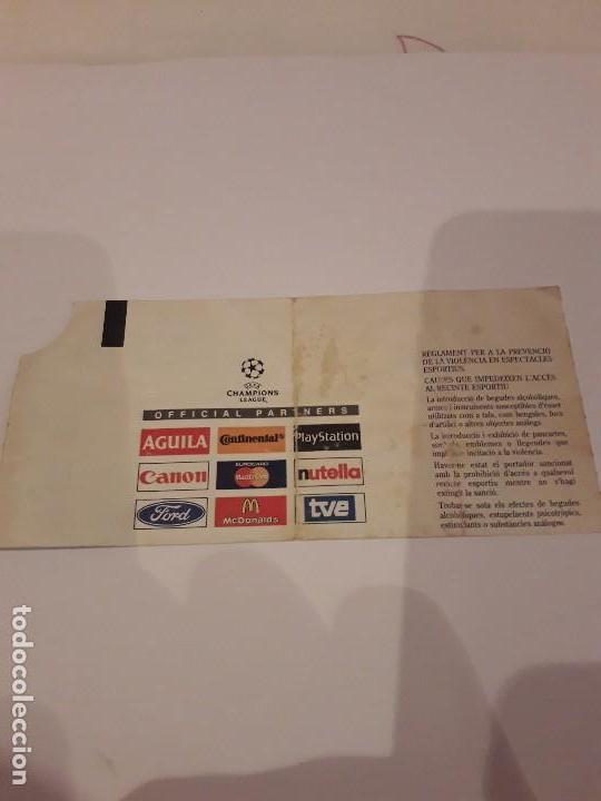 Coleccionismo deportivo: ENTRADA CHAMPIONS.F.C.BARCELONA VS BAYER DE MUNICH.1998 - Foto 6 - 170340188