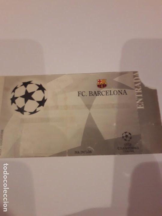 ENTRADA CHAMPIONS.F.C.BARCELONA VS BAYER DE MUNICH.1998 (Coleccionismo Deportivo - Documentos de Deportes - Entradas de Fútbol)