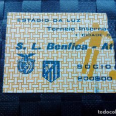 Coleccionismo deportivo: ENTRADA BENFICA V ATLETICO MADRID 1984 AMISTOSO. Lote 170543928