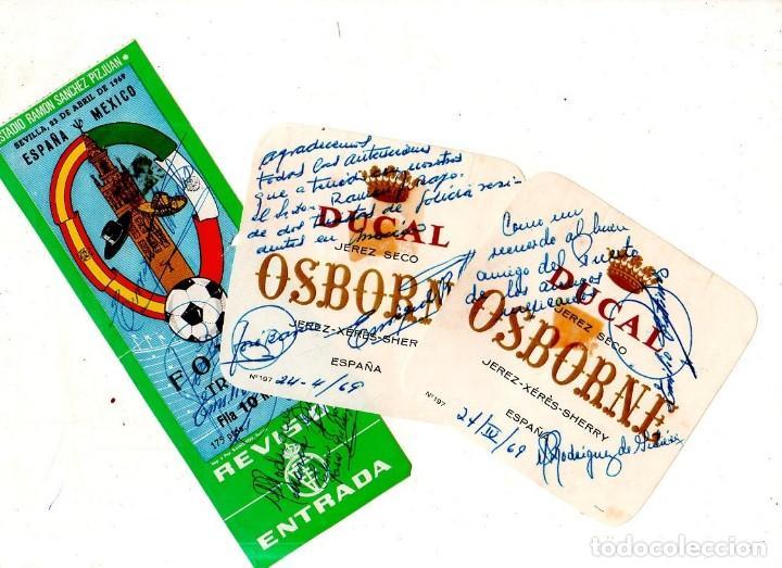 PARTIDO INTERNACIONAL. ESPAÑA MEXICO. SEVILLA 1969. FIRMADA. LEER. VER FOTOS ADICIONALES. (Coleccionismo Deportivo - Documentos de Deportes - Entradas de Fútbol)