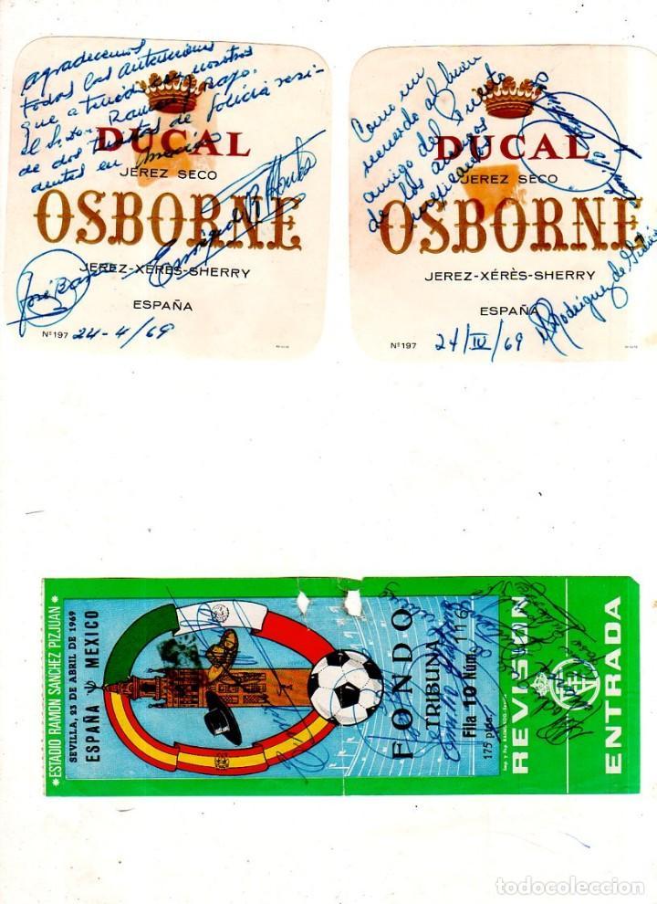 Coleccionismo deportivo: PARTIDO INTERNACIONAL. ESPAÑA MEXICO. SEVILLA 1969. FIRMADA. LEER. VER FOTOS ADICIONALES. - Foto 2 - 171103618