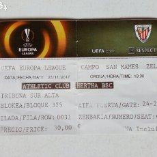 Coleccionismo deportivo: UEFA EUROPA LEAGUE: ATHLETIC CLUB - HERTHA BSC (23-11-2017) SAN MAMÉS, BILBAO. ENTRADA.. Lote 172383587