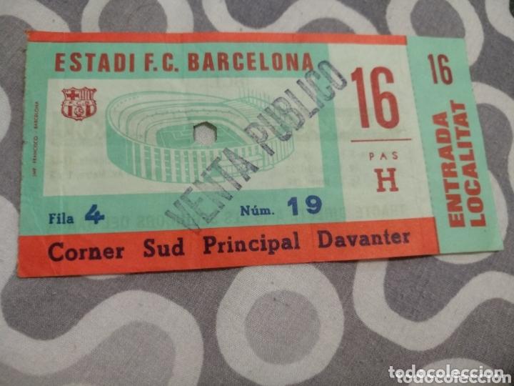 ENTRADA BARCELONA - DUKLA PRAGA 1981-1982 (OCTAVOS DE FINAL RECOPA DE EUROPA) (Coleccionismo Deportivo - Documentos de Deportes - Entradas de Fútbol)