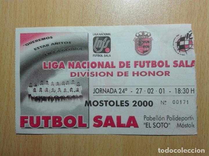 ENTRADA 2000 - LIGA NACIONAL FUTBOL SALA - MOSTOLES - (Coleccionismo Deportivo - Documentos de Deportes - Entradas de Fútbol)