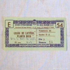 Coleccionismo deportivo: ENTRADA REAL MADRID - S.C. VASAS 1958 SEMIFINAL III COPA DE EUROPA. Lote 174413808