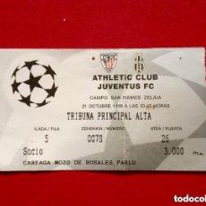 Coleccionismo deportivo: ENTRADA CHAMPIONS LEAGUE: ATHLETIC CLUB - JUVENTUS FC (21-10-1998) SAN MAMÉS, BILBAO UEFA. Lote 175342715