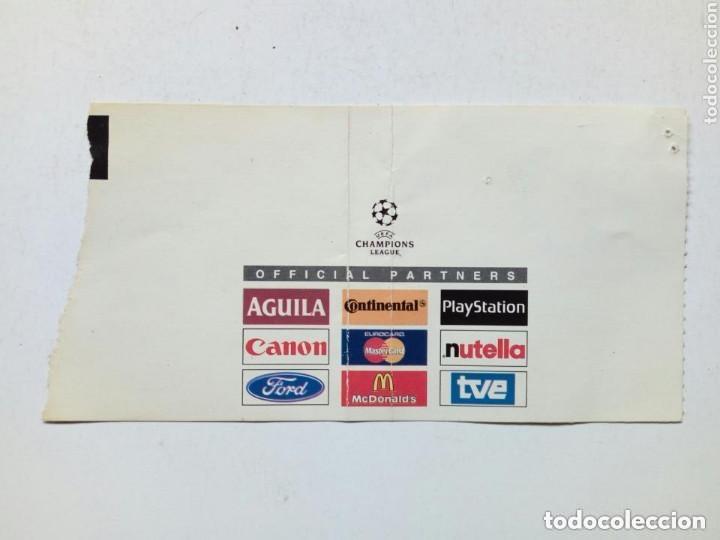 Coleccionismo deportivo: Entrada Champions League: ATHLETIC CLUB - GALATASARAY (9-12-1998) San Mamés, Bilbao UEFA - Foto 2 - 175342788