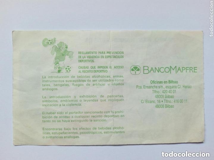 Coleccionismo deportivo: Entrada: ATHLETIC CLUB - CELTA (Estadio San Mamés 20 - Marzo - 1994) Bilbao - Foto 2 - 175343074