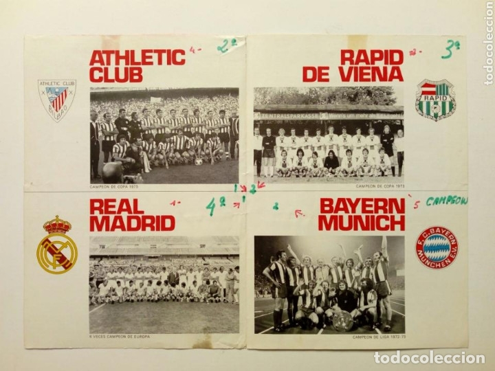 Coleccionismo deportivo: 1973 - Programa del TROFEO 75 ANIVERSARIO ATHLETIC CLUB DE BILBAO - Bayern Munich - Real Madrid - Foto 3 - 175343933