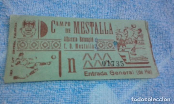 ENTRADA CAMPO MESTALLA -ALBACETE BALOMPIE -MESTALLA -1961 (Coleccionismo Deportivo - Documentos de Deportes - Entradas de Fútbol)