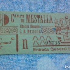 Coleccionismo deportivo: ENTRADA CAMPO MESTALLA -ALBACETE BALOMPIE -MESTALLA -1961. Lote 175752372