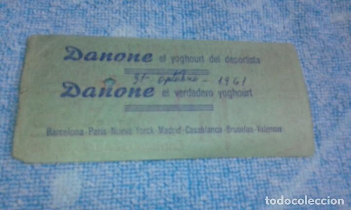 Coleccionismo deportivo: ENTRADA CAMPO MESTALLA -ALBACETE BALOMPIE -MESTALLA -1961 - Foto 2 - 175752372