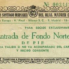 Coleccionismo deportivo: PARTIDO IV COPA DE EUROPA. REAL MADRID - WIENER S.C. 18-03-1959. Lote 175848827