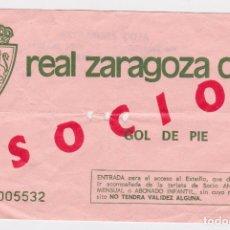 Collectionnisme sportif: ENTRADA TICKET FÚTBOL REAL ZARAGOZA. Lote 176873597