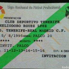 Coleccionismo deportivo: ENTRADA FUTBOL TENERIFE REAL MADRID TROFEO CIUDAD DE TENERIFE 1995. Lote 176979464