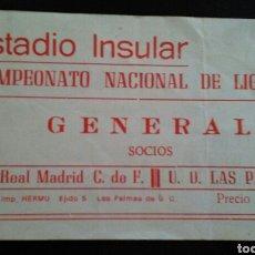 Coleccionismo deportivo: ENTRADA FUTBOL LAS PALMAS REAL MADRID. Lote 176981579
