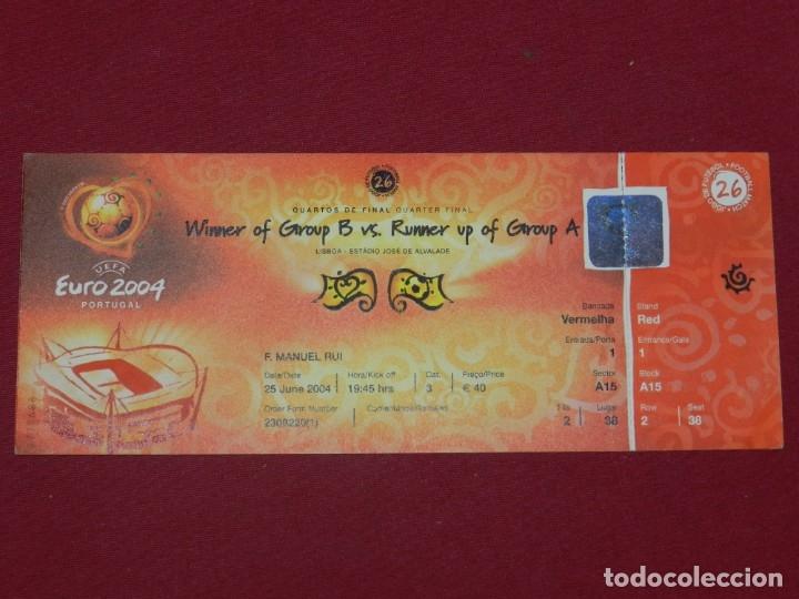 ENTRADA DE FUTBOL EUROCOPA EURO 2004 PORTUGAL 25 JUNE 2004 FRANCIA - GRECIA (Coleccionismo Deportivo - Documentos de Deportes - Entradas de Fútbol)