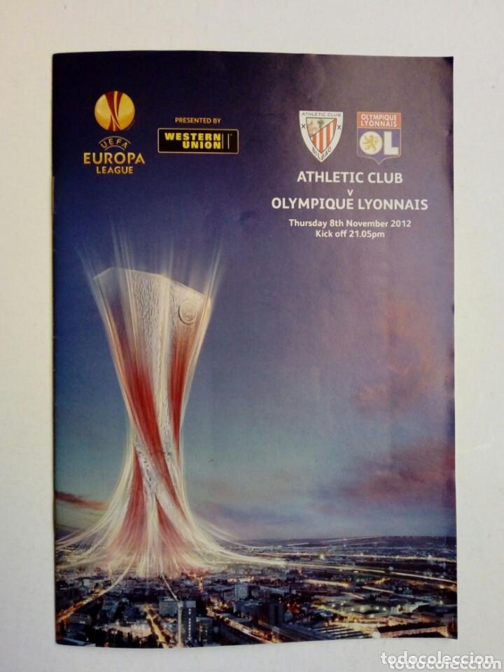 Coleccionismo deportivo: LOTE 5 programas oficiales - ATHLETIC CLUB - UEFA Europa League 2012 - San Mamés, Bilbao - Foto 2 - 177600204