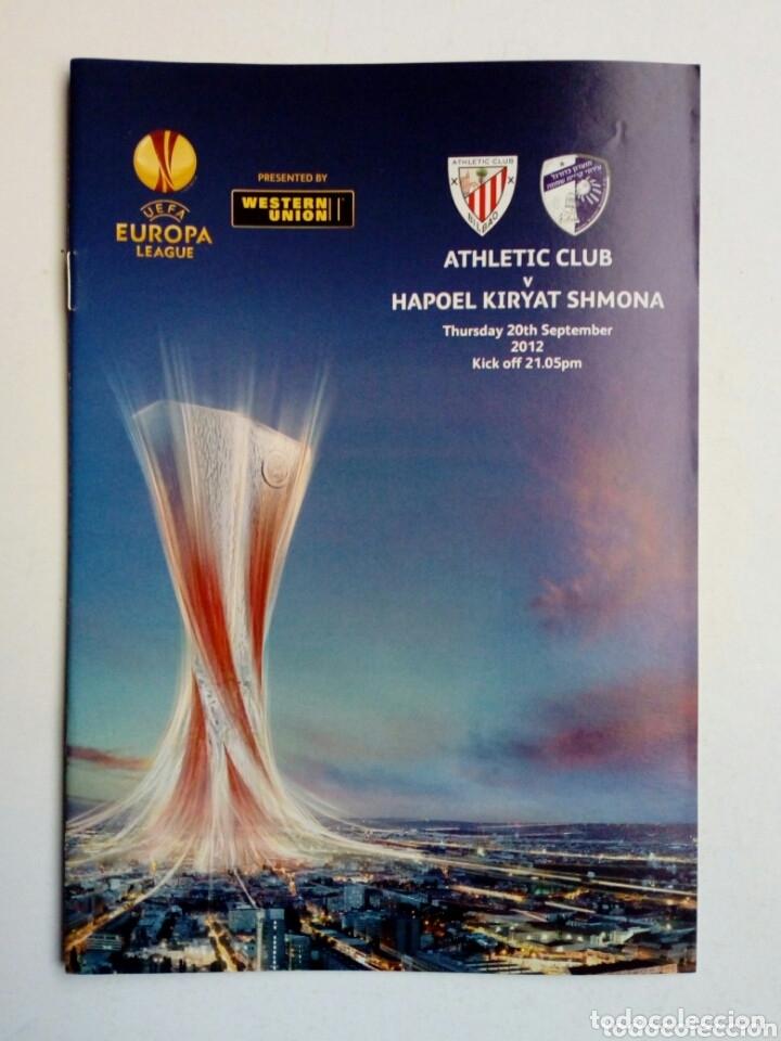 Coleccionismo deportivo: LOTE 5 programas oficiales - ATHLETIC CLUB - UEFA Europa League 2012 - San Mamés, Bilbao - Foto 3 - 177600204