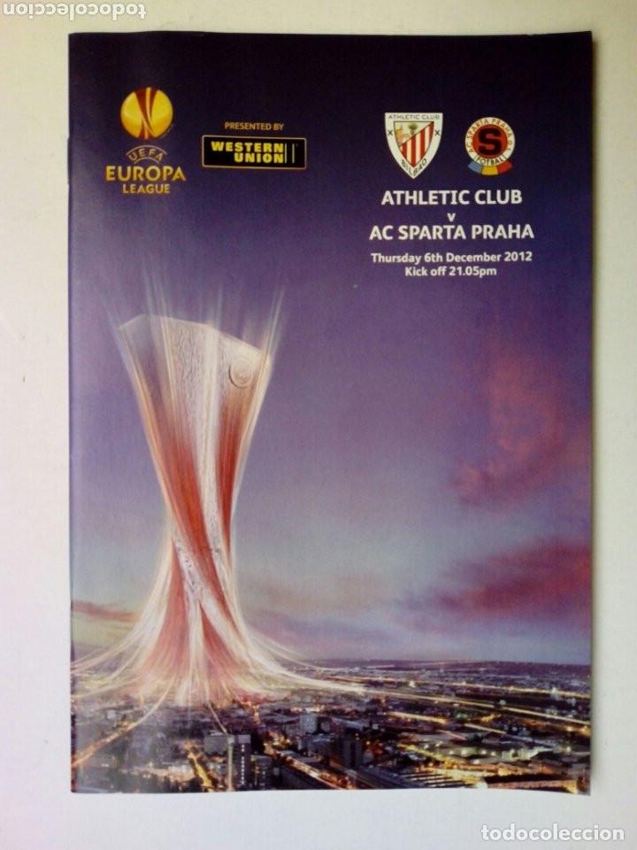 Coleccionismo deportivo: LOTE 5 programas oficiales - ATHLETIC CLUB - UEFA Europa League 2012 - San Mamés, Bilbao - Foto 4 - 177600204
