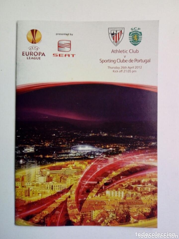 Coleccionismo deportivo: LOTE 5 programas oficiales - ATHLETIC CLUB - UEFA Europa League 2012 - San Mamés, Bilbao - Foto 5 - 177600204