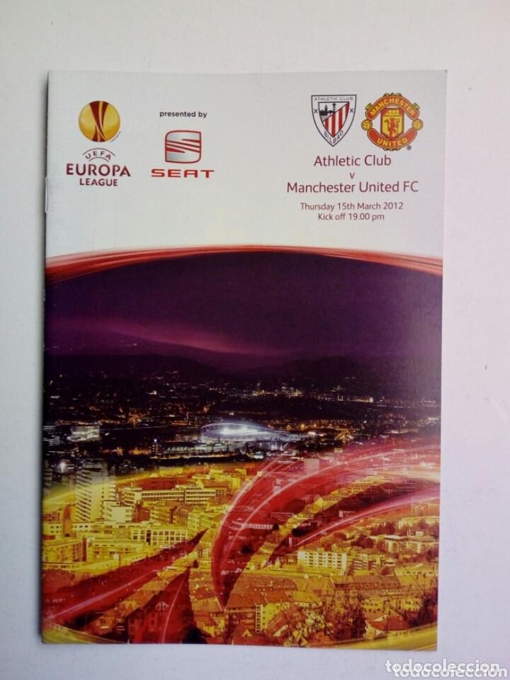 Coleccionismo deportivo: LOTE 5 programas oficiales - ATHLETIC CLUB - UEFA Europa League 2012 - San Mamés, Bilbao - Foto 6 - 177600204