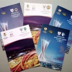 Coleccionismo deportivo: LOTE 5 PROGRAMAS OFICIALES - ATHLETIC CLUB - UEFA EUROPA LEAGUE 2012 - SAN MAMÉS, BILBAO. Lote 177600204