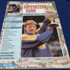 Coleccionismo deportivo: LIBRO THE SUPPORTERS´GUIDE TO ( PREMIERSHIP & FOOTBALL LEAGUE CLUBS 1993 ) 120 PAGINAS. Lote 177650887