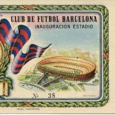 Coleccionismo deportivo: ENTRADA CLUB DE FUTBOL BARCELONA-INAGURACION ESTADIO-1957 Nº 38-SIN USAR. Lote 178076455