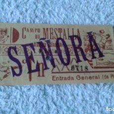 Coleccionismo deportivo: ENTRADA CAMPO MESTALLA 1961 ALBACETE BALOMPIE -MESTALLA . Lote 178155665