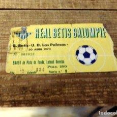 Coleccionismo deportivo: SEVILLA, 30/04/1972, ENTRADA PARTIDO REAL BETIS - U.D. LAS PALMAS. Lote 178172311