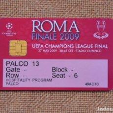 Coleccionismo deportivo: ENTRADA CARNET FINAL CHAMPIONS 2009 ROMA FC BARCELONA MANCHESTER BARÇA. Lote 178227200